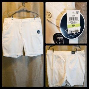 NWT Karen Scott 18W White Cotton Shorts
